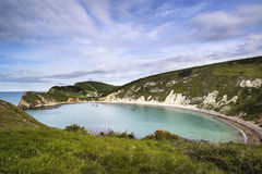 Beautiful Summer landscape over Lulworth Cove in England Royalty Free Stock Photography