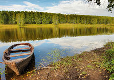 Beautiful summer landscape on the river Royalty Free Stock Image