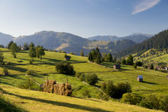 Beautiful summer landscape of the romanian village Royalty Free Stock Photography