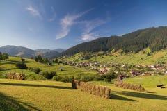 Beautiful summer landscape of the romanian village Stock Image