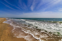 Beautiful summer landscape with the sea Stock Images