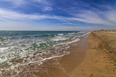 Beautiful summer landscape with the sea Royalty Free Stock Images