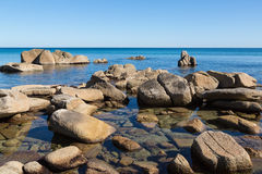 Beautiful summer landscape of sea coast. Royalty Free Stock Photo