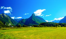 Beautiful summer landscape. Slovenia mountain and valley. Stock Images