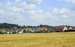 Beautiful summer landscape of suburb Prague Stock Image