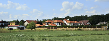 Beautiful summer landscape of suburb Prague Stock Photography