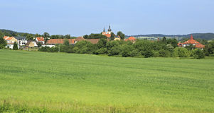 Beautiful summer landscape of suburb Prague Royalty Free Stock Photos