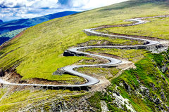 Beautiful summer landscape with Transalpina road Stock Photos