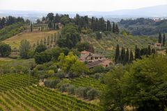 Beautiful summer landscape in Tuscany, Italy stock images