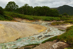 Beautiful summer landscape in the Uzon Caldera. Kronotsky Nature Reserve Stock Photos