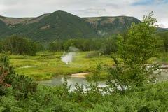 Beautiful summer landscape in the Uzon Caldera. Kronotsky Nature Reserve Stock Photo