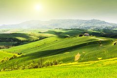Beautiful summer landscapes in Tuscany, Italy