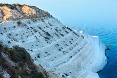"Scala dei Turchi, Agrigento, Italy. White cliff called ""Scala dei Turchi"" in Sicily, near Agrigento, Italy Royalty Free Stock Photography"