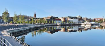Beautiful summer morning in Luleå Royalty Free Stock Image