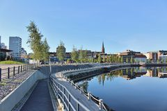 Beautiful summer morning in Luleå Stock Photography