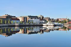Beautiful summer morning in Luleå Stock Image