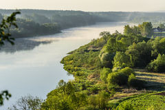 A beautiful summer morning over the Nemunas river. Stock Images