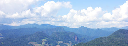 Beautiful summer mountain. High complex in thailand Royalty Free Stock Images