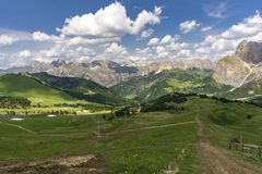 Beautiful summer mountain landscape. Dolomites. Italy. Beautiful summer mountain landscape. Dolomites. Italy Royalty Free Stock Photography