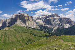 Beautiful summer mountain landscape. Sella group. Dolomites. Ita Royalty Free Stock Images