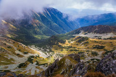 A beautiful summer mountain landscape in Tatry. A beautiful mountain landscape in Tatry, Slovakia royalty free stock photography