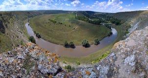 Beautiful summer panoram of Moldova stock photo