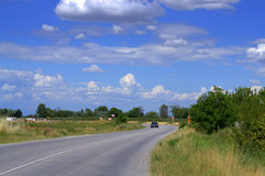 Beautiful summer road scene Stock Photos