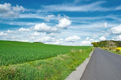 Beautiful summer rural landscape with road Royalty Free Stock Photos