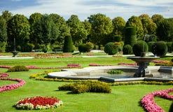 Beautiful summer Schonbrunn park Stock Photos