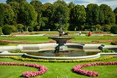 Beautiful summer Schonbrunn park Royalty Free Stock Photos