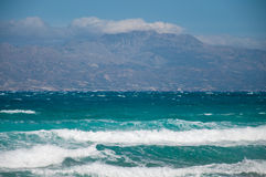 Beautiful Summer Seascape in Greece Royalty Free Stock Photo