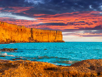 Beautiful summer seascape. Stock Photos