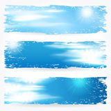 Beautiful summer sky banners Royalty Free Stock Photos