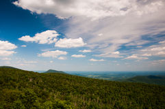 Beautiful summer sky over Piedmont, seen from Skyline Drive in S Royalty Free Stock Images