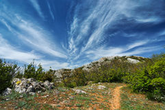 Beautiful summer sunny day with clouds. In Crimea Stock Photos