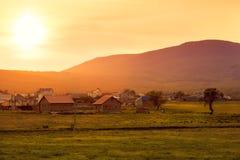 Beautiful summer sunset. Crimea landscape Stock Photos