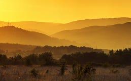 Beautiful summer sunset. Crimea landscape Royalty Free Stock Image