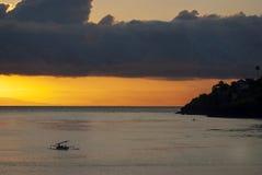 Sunset Over Legoe Bay on Lummi Island, Washington. Royalty Free Stock Images
