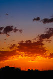 Beautiful Summer Sunset Over Valencia City Stock Images