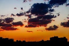 Beautiful Summer Sunset Over Valencia City Stock Image
