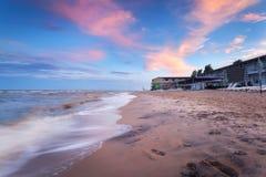 Beautiful summer sunset at the sea Royalty Free Stock Photo