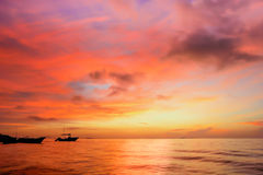 Sunset at Yucatan Peninsula Beach Stock Image