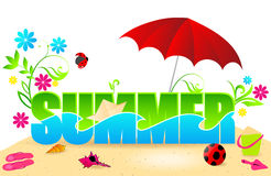 Beautiful summer text illustration Stock Photo