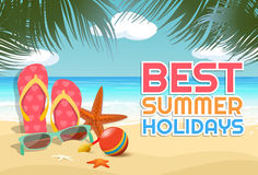Beautiful Summer Tropical Background Royalty Free Stock Images