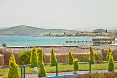 Beautiful Summer in Turkey. Beautiful Summer in  Çeşme Beach ,Turkey Royalty Free Stock Photography