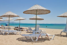 Beautiful Summer in Turkey. Beautiful Summer in  Ayvalik Beach ,Turkey Royalty Free Stock Images