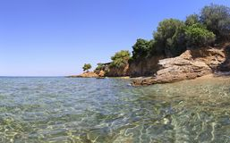 Beautiful summer view of the Aegean coast. Stock Photography