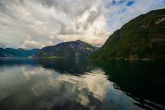 Beautiful summer view of Norwegian fjord Stock Images