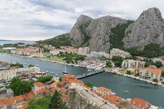 Omis in Croatia. royalty free stock images