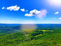 Beautiful summer views of Appalachian trail. Beautiful summer views on the mountain top of Appalachian trail that passing through Salisbury Connecticut United royalty free stock photos